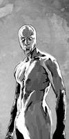 Silver Surfer doodle by JonathanWyke