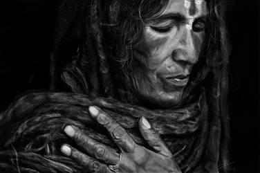 Nepali woman by Theotenai