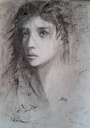 Portrait in charcoal by Theotenai