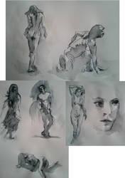 wash sketches by Theotenai