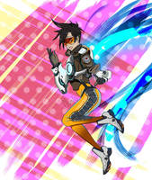 Tracer-Overwatch by Monochrome00
