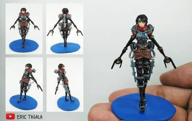 Mikasa Ackerman Polymer Clay Figure by BL-ea-CH