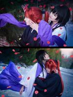 Rurouni Kenshin - Rose petals by RomaiLee