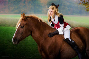 Edea - Bravely Default - Riding by RomaiLee