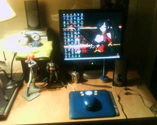 My REAL desktop by zanahoriaman