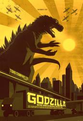 Godzilla by FabledCreative