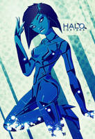 Cortana - Halo - Pinup by FabledCreative