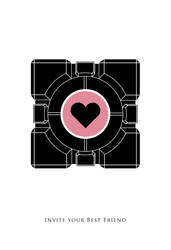 Portal - Companion Cube by FabledCreative