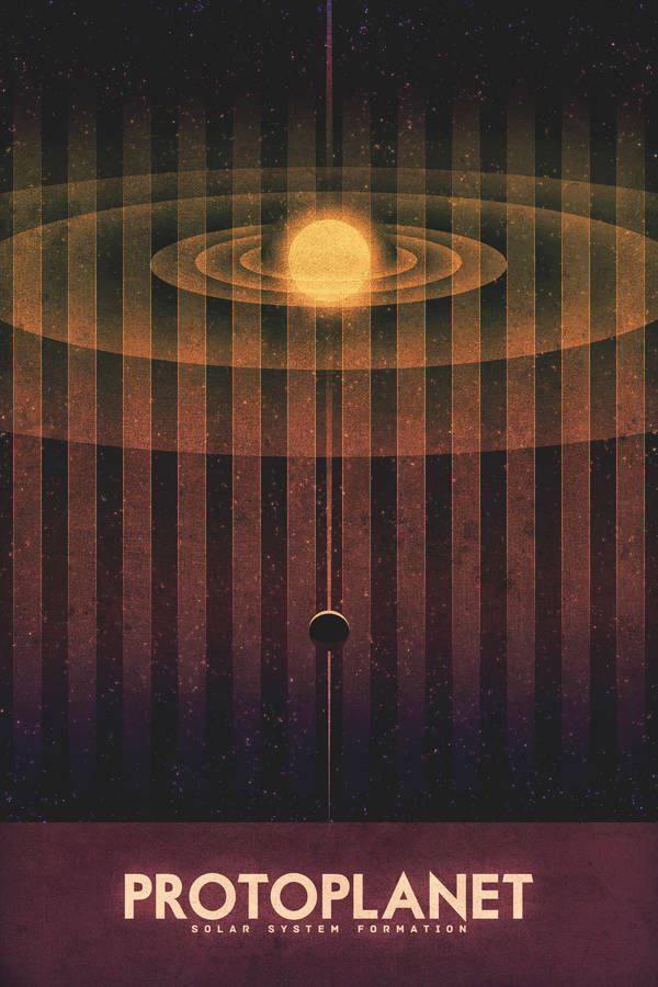 System Formation - Protoplanet - Space Poster by FabledCreative