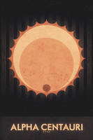 Star - Alpha Centauri - Space Poster by FabledCreative