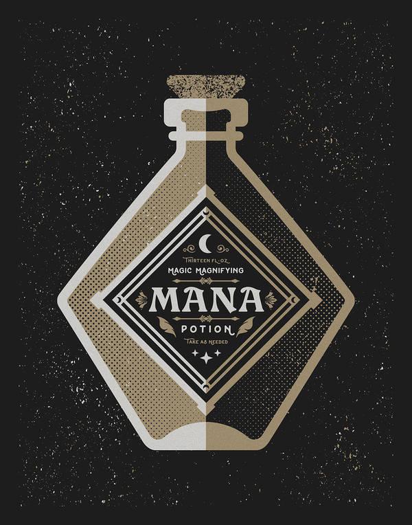 Bottle - Mana Potion by FabledCreative
