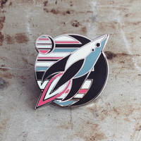 Spaceship - Hard Enamel Pin by FabledCreative