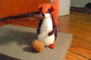felted striped squirrel by Xrayy
