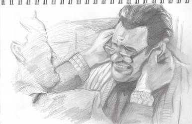 Sketch: Ray and Peter 2 by VultureEye