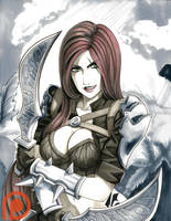 Katarina - League of Legends by pillowds