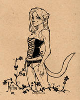 Kitten Commission by luniara
