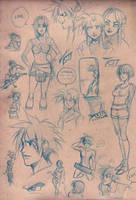 Sketchbook DB doodles by luniara