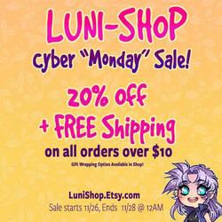 Holiday Etsy Shop Sale! by luniara