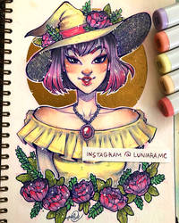 Floral Witch by luniara