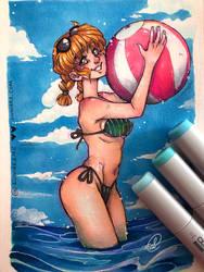 A Day at the Beach by luniara