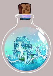 Potion Bottle Sprite - Water by luniara