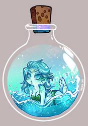 Potion Bottle Sprite - Water by luniara