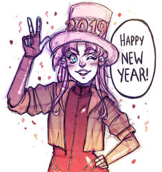 Happy New Year 2019! by luniara