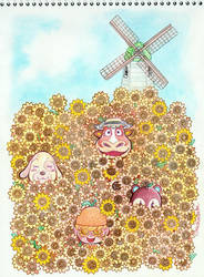 sunflowers by couchmochi