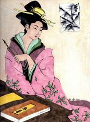 Geisha's Shodo by mrinx