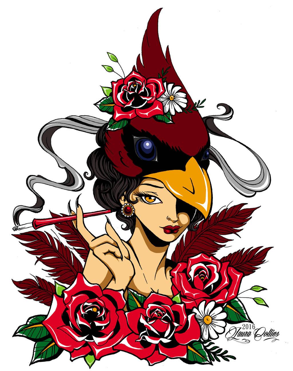 Cardinal Lady by mrinx