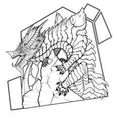 Gravity King, Atlas Lineart by Frogore
