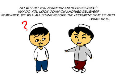 Don't condemn other believers by kitabcomics