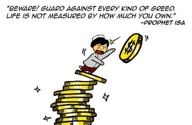 Guard against greed by kitabcomics