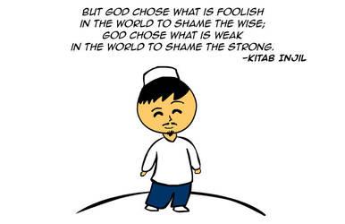 God chose the weak... by kitabcomics