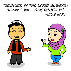 Rejoice in the Lord always by kitabcomics