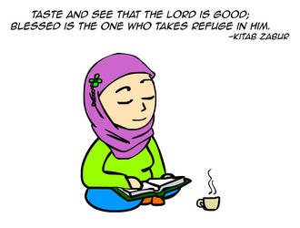 See for yourself that the Lord is good! by kitabcomics