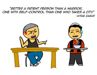 Better a patient person than a warrior by kitabcomics