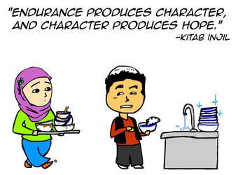 Endurance produces character by kitabcomics
