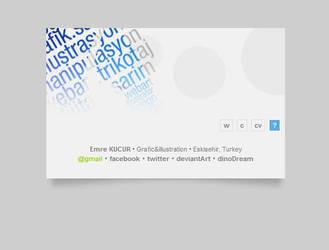 Vcard mini site concept by emrekucur