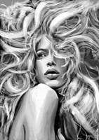 Another Doutzen Kroes sketch by indi1288