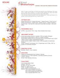 Gopal Bhattacharjee Resume by gopalb