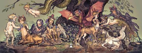 Mythological Children by bwusagi