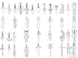 Swords by LordKnightXiron