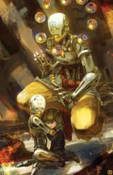 Zenyatta Overwatch Fan Art by anireal