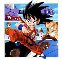Dragon Ball - Goku attacks the RR army headquarter by superjmanplay2