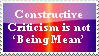 Constructive Criticism Stamp by Kiwi-ingenuity123