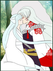 Sesshomaru Kiss Oc Saia by WorldAngel