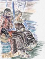 Old Souls: Auron and Lulu by auronlu