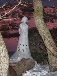 FFX -- Yuna Snow Sculpture by auronlu