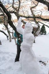 Working on Snow Auron by auronlu